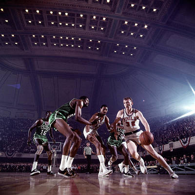 Photograph - Billy Cunningham Action Portrait by Walter Iooss Jr.