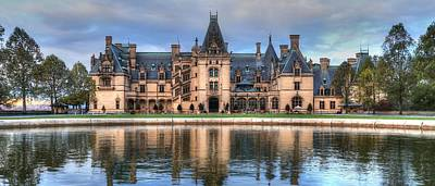 Photograph - Biltmore Reflection Through The Fountain  by Carol Montoya