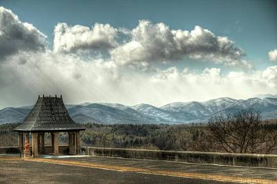 Photograph - Biltmore Tea House And Storm Clouds by Carol Montoya