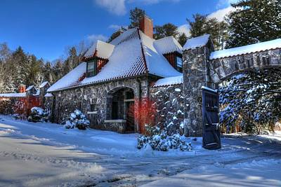Photograph - Biltmore Walled Garden In Winter Caretakers House by Carol Montoya