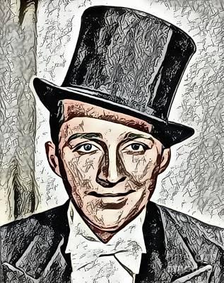Digital Art Royalty Free Images - Bing Crosby, Vintage Star Royalty-Free Image by Mary Bassett