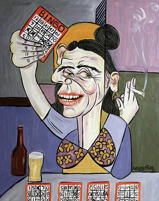 Painting - Bingo Lady by Anthony Falbo
