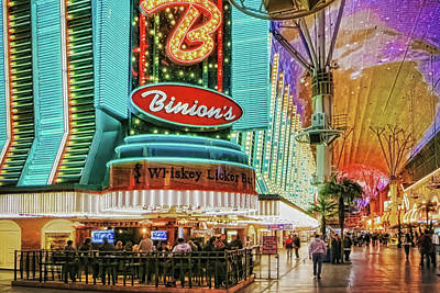 Photograph - Binions Casino, Las Vegas by Tatiana Travelways