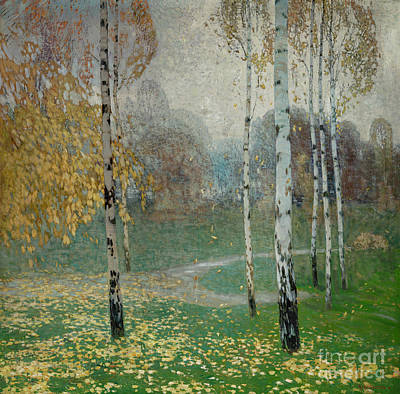 Painting - Birch Trees, 1904 by Alois Kalvoda