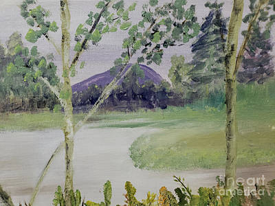 Painting - Birches Along The River by Donna Walsh