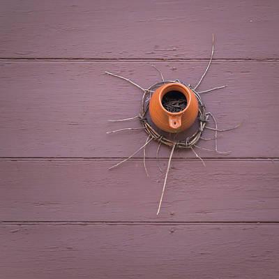 Photograph - Bird Bottle Twig Wreath by Teresa Mucha