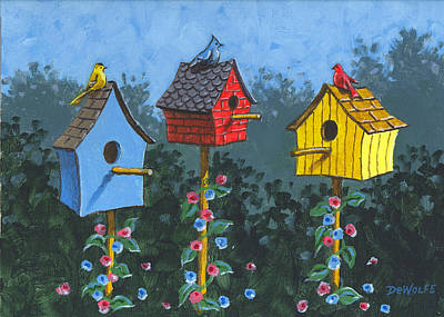 Painting - Bird House Lane Sketch by Richard De Wolfe