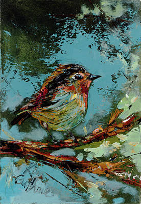 Wall Art - Painting - Bird Painting Oil  by Kim Guthrie