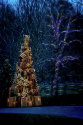 Photograph - Birdhouse Tree by Tom Singleton
