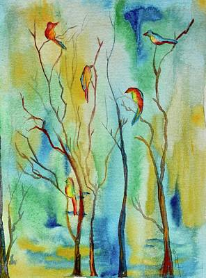 Painting - Birds In Trees by Beverley Harper Tinsley