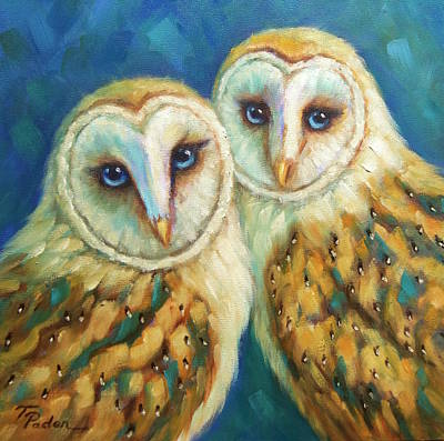 Wall Art - Painting - Birds Of A Feather by Theresa Paden