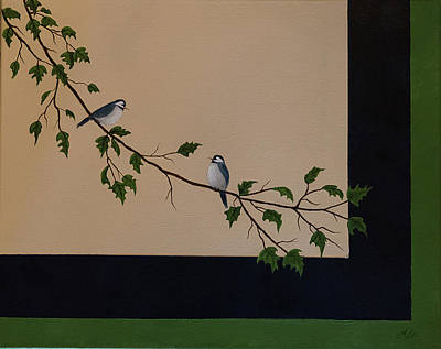 Painting - Birds On Branch by Gloria Johnson
