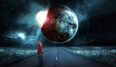 Digital Art - Birth of a planet by Mihaela Pater
