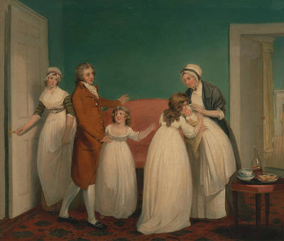 Painting - Birth Of The Heir by William Redmore Bigg