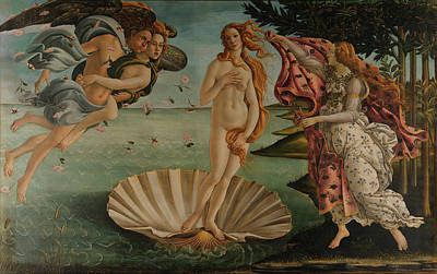 Painting - Birth Of Venus By Sandro Botticelli by Fine Art Images