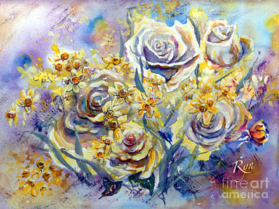 Painting - Birthday Blooms by Ryn Shell