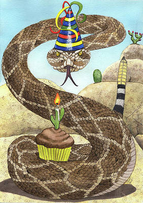 Painting - Birthday Buzzworm by Catherine G McElroy