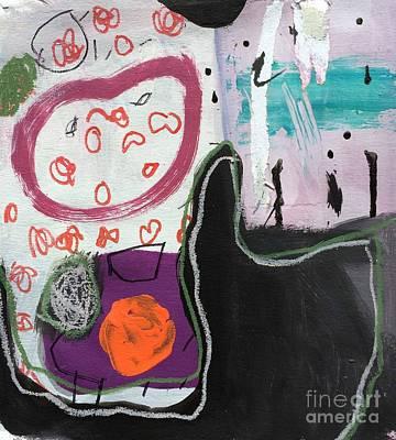 Painting -  Bisou by Diane Desrochers