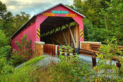 Photograph - Bistline Covered Bridge by Adam Jewell