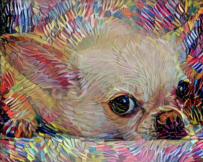 Mixed Media - Bitsy The Chihuahua by Peggy Collins