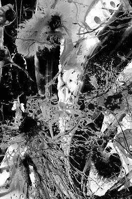 Painting - Black And White Abstract Art - Black Formations 4 - Sharon Cummings by Sharon Cummings
