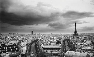 Cityscape Photograph - Black And White Aerial View Of An by Stockbyte