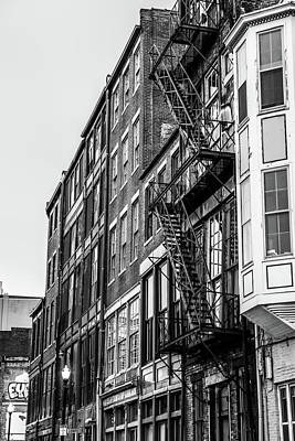 Photograph - Black And White Apartment Building by Dan Sproul
