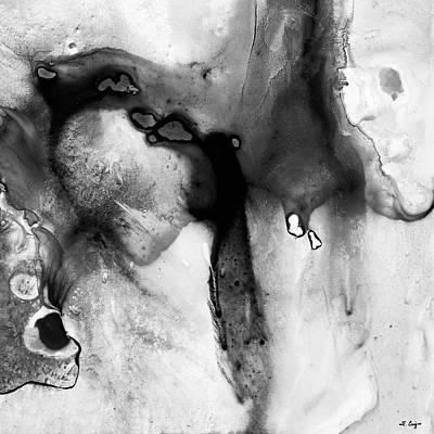 Painting - Black And White Art - Rhapsody 2 - Sharon Cummings by Sharon Cummings