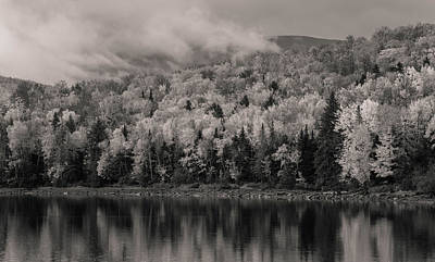 Photograph - Black And White Autumn Reflections by Dan Sproul