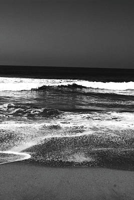 Waves Photograph - Black And White Beach 7- Art By Linda Woods by Linda Woods