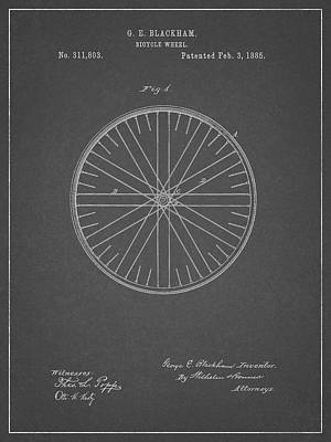Drawing - Black And White Bicycle Tire Design by Dan Sproul