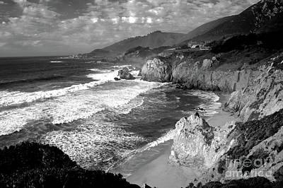 Photograph - Black And White Big Sur by Paula Guttilla