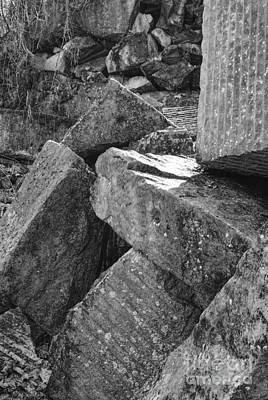 Photograph - Black And White Boulders by Phil Perkins