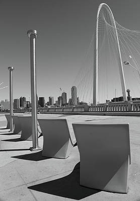 Photograph - Black And White Dallas Bridge by Dan Sproul