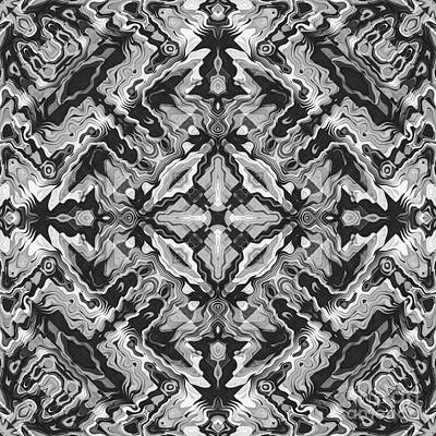 Digital Art - Black And White Geometric by Phil Perkins