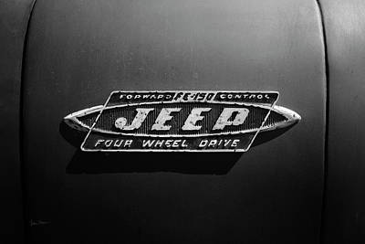 Photograph - Black And White Jeep Fc Badge by Luke Moore