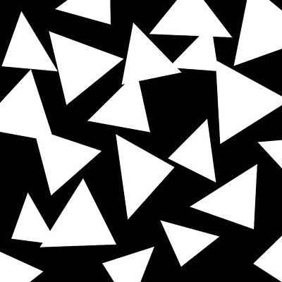 Black And White Triangle Original