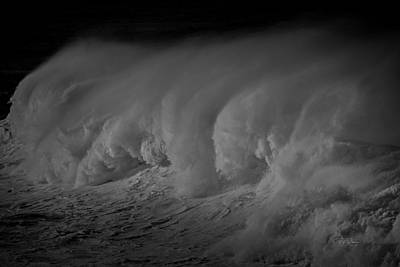 Photograph - Black And White Wave by Bill Posner