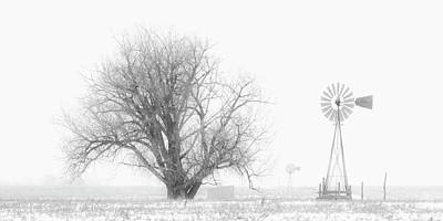 Photograph - Black And White Windmill 01 by Rob Graham