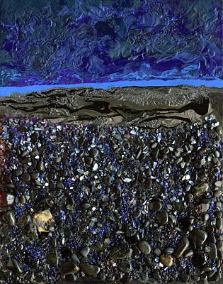 Mixed Media - Black As Night by Donna Blackhall