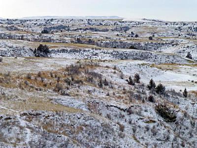 Photograph - Black Butte January Badlands by Cris Fulton