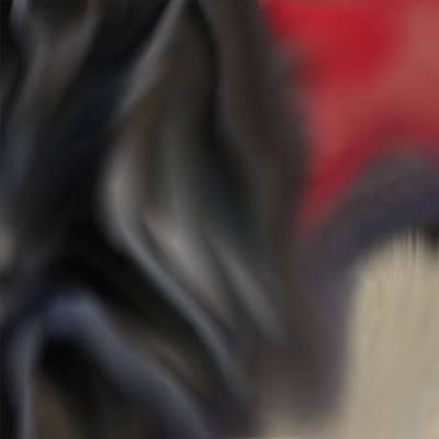 Digital Art - Black Dog 2 by Richard Reeve