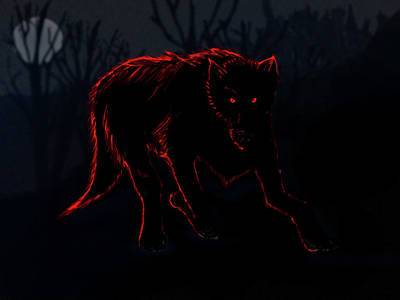 Digital Art - Black Dog  by N Kirouac