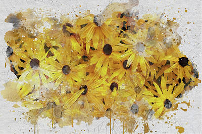 Digital Art - Black-eyed Susans by Marilyn Wilson