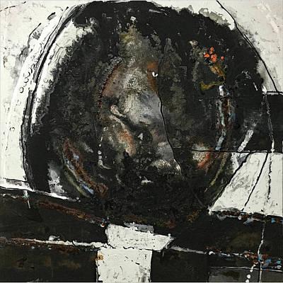 Mixed Media - Black Field IIi by Rudi Eckerle