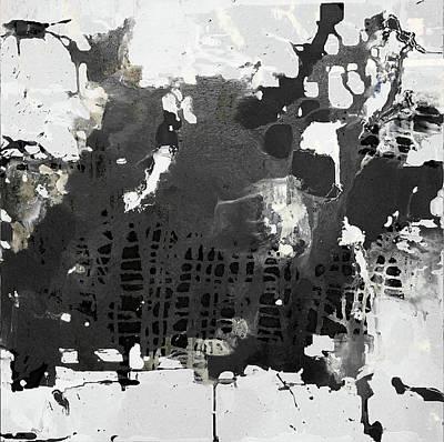 Mixed Media - Black Field White by Rudi Eckerle
