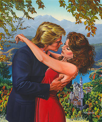 Painting - Black Forest Romance by Richard De Wolfe