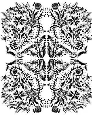 Painting - Black Insect Orgy by Anthony Mrugacz