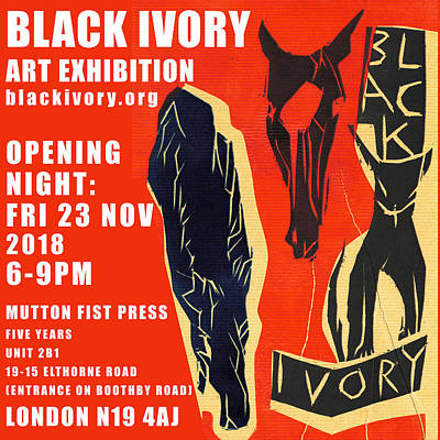 Digital Art - Black Ivory Exhibition Poster 1 by Artist Dot