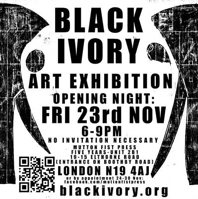 Digital Art - Black Ivory Exhibition Poster 2 by Artist Dot